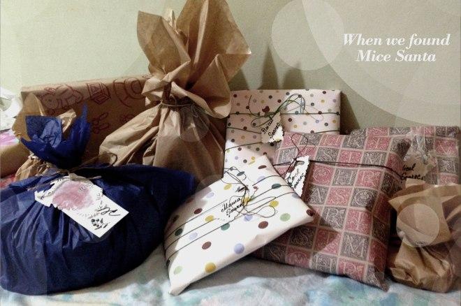 Mice Santa, Mice Gifts