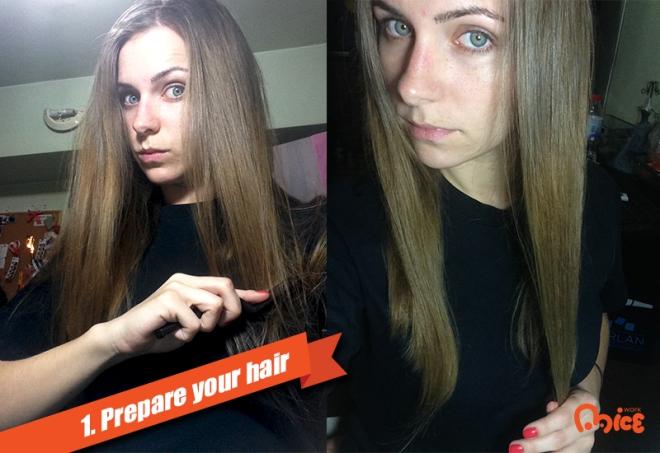 1 Prepare hair